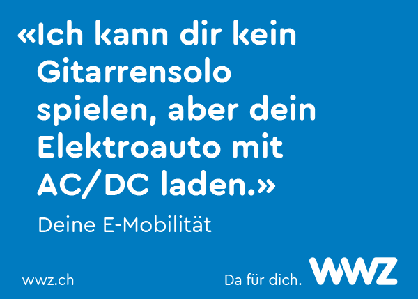 Kampagne WWZ E-Mobilität